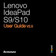 Lenovo IdeaPad S9-S10 UserGuide V2.0
