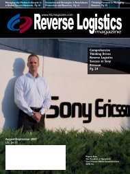 Comprehensive Thinking Drives Reverse Logistics Success at Sony ...