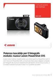 Potenza tascabile per il fotografo evoluto: nuova ... - Canon Italia