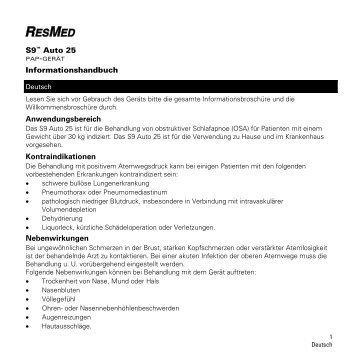 S9 Bilevel Information Guide MASTER - ResMed