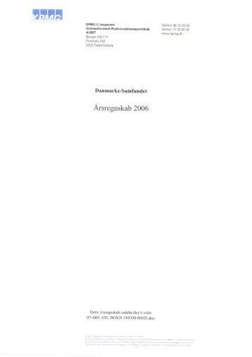 Årsregnskab 2006 - Danmarks-samfundet