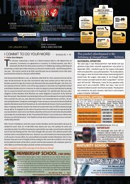 Download Bulletin for January 13th 2013 - Daystar