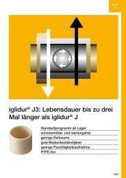 iglidur® J3: Lebensdauer bis zu drei Mal länger als iglidur® J - Igus