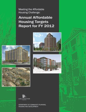 Annual Affordable Housing Targets Report for FY 2012