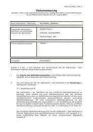Zielvereinbarung - Medizinische Fakultät der Ludwig-Maximilians ...