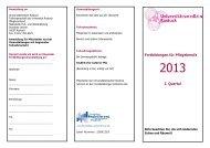 Fortbildungsprogramm 1. Quartal 2013 - Universität Rostock