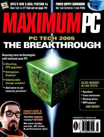 INTEL'S NEW 3.8 GHz PENTIUM 4J - Maximum PC