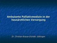 Palliativmedizin in der hausärztlichen