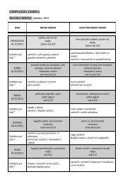 Jedilniki za mesec oktober 2012 - Gimnazija Ledina