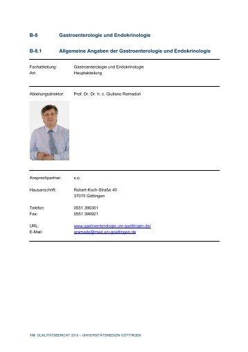 B-8 Gastroenterologie und Endokrinologie B-8.1 Allgemeine ...