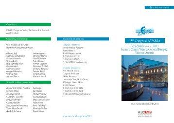13th Congress of ESBRA - Vienna Medical Academy