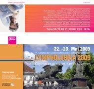 Vorprogramm Lymphologica 09.pdf - Österreichische Gesellschaft ...