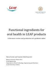 Funktionella ingredienser för munhälsa i LEAF-produkter