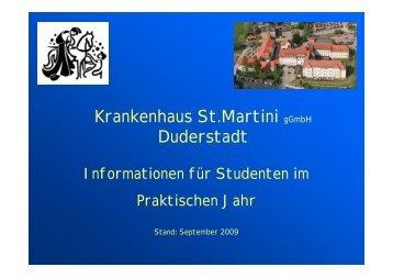 Krankenhaus St.Martini gGmbH Duderstadt