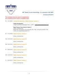 1 IMC® Master Course Implantology - in co-operation with GBOI ...