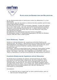 Richtlinien zur Bearbeitung der Meilensteine - International Medical ...