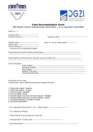 Case Documentation Form - International Medical College IMC