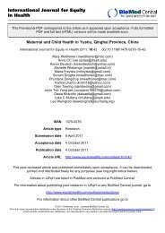 Maternal and Child Health in Yushu, Qinghai Province