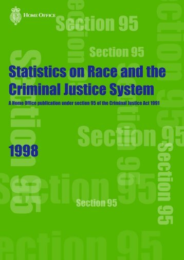 Statistics on Race and the Criminal Justice System 1998