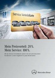 Angebote mit der Service VorteilsKarte von Mercedes-Benz