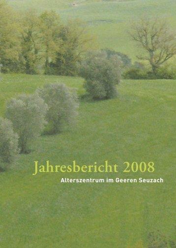 Jahresbericht 2008 - Alterszentrum im Geeren