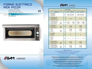 Formatrice per pizza serie pf mecnosud - Forno elettrico per pizze ...