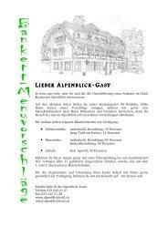 Menüvorschläge für Bankette - Hotel Alpenblick Heiligenschwendi