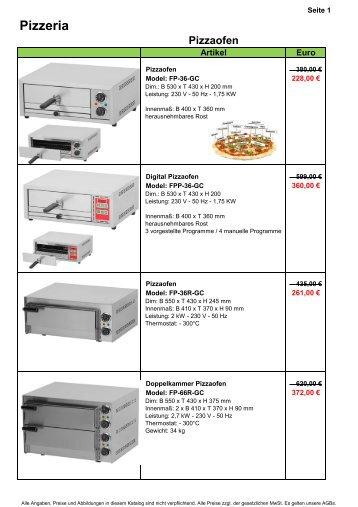 Pizzeria - Gastro-Ausverkauf.de