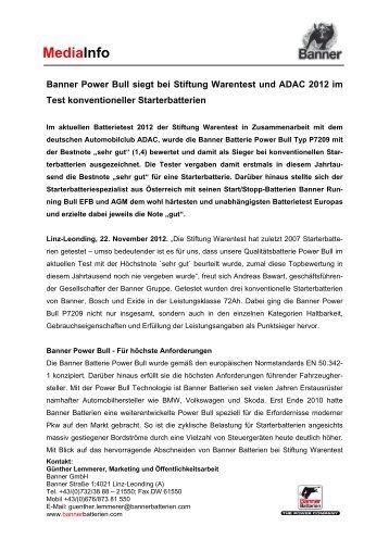 MediaInfo Banner Batterietest 2012 A (0.1 Mb) - Banner GmbH