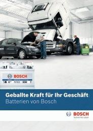 Geballte Kraft für Ihr Geschäft: Batterien von Bosch