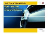 Opel / Vauxhall Rettungsleitfaden - Freiwillige Feuerwehr Haiger