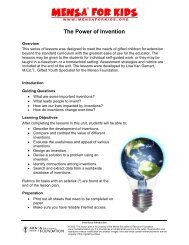 Lesson 1. The Power of Invention