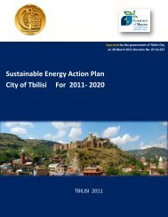 Sustainable Energy Action Plan City of Tbilisi For 2011- 2020