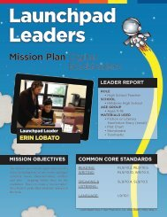 Mission Plan Digital Booktrailers - Launchpad Toys