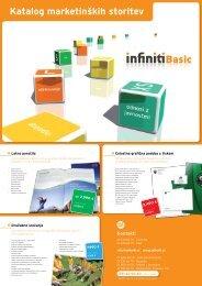 Katalog marketinških storitev - Infiniti MRM doo
