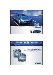 Eine Klasse für sich! Die neuen BLUE dynamic - VARTA PartnerNet ...