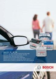 Bosch S3 – S4 – S5 – S6 Batterien für Pkw, auch für asiatische ...