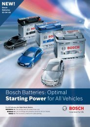 Bosch Batteries: Optimal Starting Power for All Vehicles