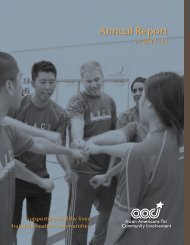 FY12 Annual Report - Asian Americans for Community Involvement