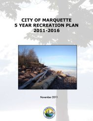 Parks & Recreation Five Year Recreation Plan ... - City of Marquette