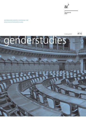 Nr. 16, FS 2010, Politik und Gender (pdf - Interdisziplinäres Zentrum ...