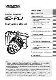 E-PL1 Instruction Manual (English) (7.05 MB) - Olympus America