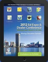 2012Ed Expo & Dealer Conference - National School Supply ...
