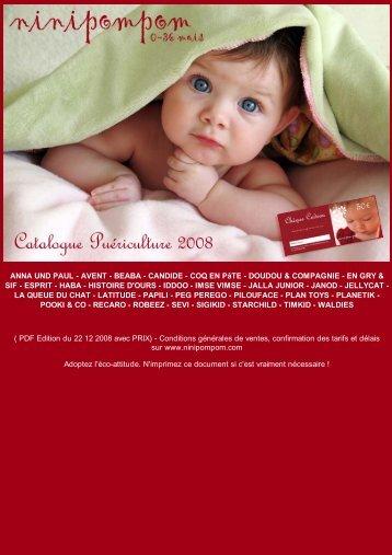 Catalogue puériculture à télécharger (pdf) - Ninipompom