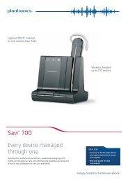 Download Plantronics Savi™ Office W700 Series ... - Atlas Gentech