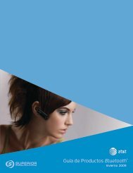 Guía de Productos Bluetooth® - Superior Communications