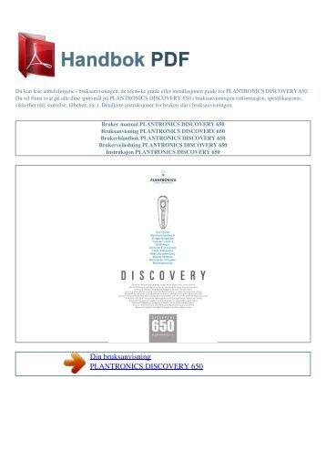 headsetet magazines rh yumpu com plantronics discovery 650 manual pdf Plantronics Discovery 925 Manual
