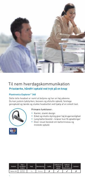 510 plantronics voyager solo Bluetooth oversigt - Headsets