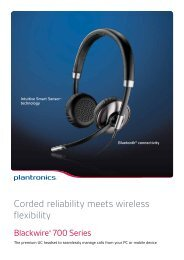 Plantronics Blackwire 700 series brochure. - AAA Headsets