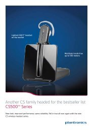 Download Plantronics CS540 Brochure - Atlas Gentech